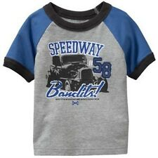 SFK Old Navy Automotive Raglan Tees Heather Gray shirt kids tshirt