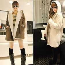 Fashion Women Ladies Cashmere Wool Long Winter Parka Coat Trench Outwear Jacket