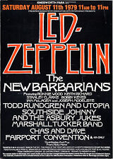 "Led Zeppelin Knebworth 1979 16"" x 12"" Photo Repro Concert Poster"