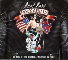REAL RAW ROCKABILLY - 50 HARD HITTING ROCKABILLY CLASSICS (NEW SEALED 2CD)