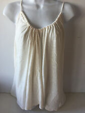 Old Navy womens cami suspended neck XXlarge ivory linen blend NEW