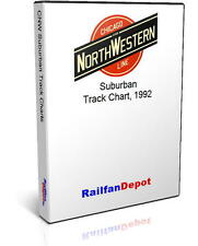 Chicago North Western Suburban Territory track chart - PDF on CD - RailfanDepot