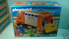 Playmobil 4418 city life series Garbage Truck Recycling mint in BOX New Garage
