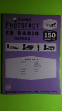 Sam Photofact CB 150 Radio Service Manual Repair book courier rebel pLL clarion