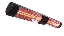 Sunheat International Outdoor Wall Mounted Heater Black 3000w 240v w/ Gold Lamp