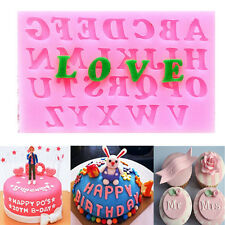 Silicone Alphabet Letter Trays Chocolate Mold Cake Fondant Decorating DIY Tools
