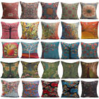 Linen Cotton Pillow Case Waist Back Throw Cushion Cover Home Sofa Car Decor
