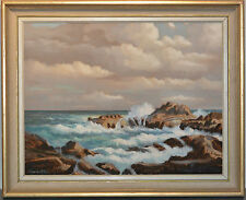 oil painting Lands End Cornwall seascape signed Edwards