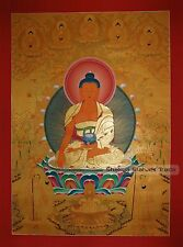 "42"" x 30.75"" Shakyamuni Buddha Gold Buddhist Tibetan Thangka Scroll Painting"