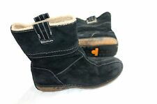 TIMBERLAND SIZE 6.5 PULL EARTHKEEPERS BLACK FLEECE LINING WINTER BOOTS