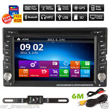 "6.2"" Double 2 Din In Dash Car CD DVD Player Stereo Radio GPS Navi BT USB+ Camera"