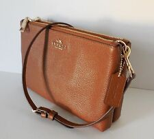 $295 NWT COACH 38273 SADDLE PEBBLE LEATHER LYLA CROSSBODY  GIFT REC'T