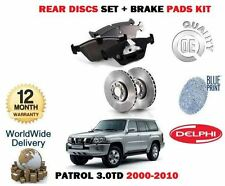 FOR NISSAN PATROL 3.0TD ZD30DDTI ENG 2000-2010 FRONT BRAKE DISCS SET + PAD KIT