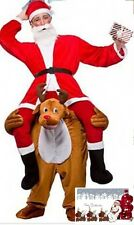 Carry Me Piggy Back Ride On Snowman Reindeer Mascot Fancy Dress Costume Xmas