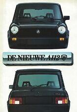 Lancia Abarth Autobianchi A112  • 1980 ± • Brochure Prospekt • Dutch • EXCELLENT