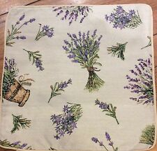 "French Country Lavender Tapestry Cushion / Pillow Cover Sham 40cm 16""sq New"