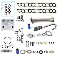 EGR Delete Kit Oil Cooler Kit w/ Gaskets Ford 6.0L Diesel Upgraded High Flow NEW