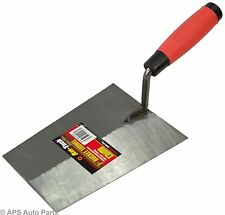 "7"" Bucket Trowel Hardened Tempered Steel Blade Bricklaying Cement Brick New"
