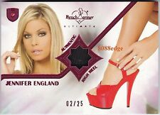 2010 BENCHWARMER ULTIMATE HIGH HEEL: JENNIFER ENGLAND #2/25 WORN SHOE SWATCH
