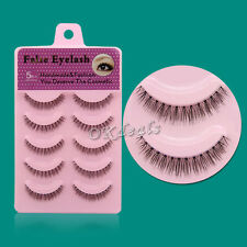 NEW Popular BF38 5 Pairs Natural Short Cross False Eyelashes Daily eye lashes
