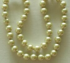 "10MM Light Yellow South Sea Shell Pearl Necklace 18"" NEW (silk gift bag)"