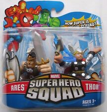 ARES & THOR Avengers Marvel Super Hero Squad 2 pack action figures 2007 2008 NIP