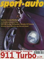 SPORT AUTO n°398 Mars 1995* 911 TURBO BMW 328i TOURING MERCEDES C37 CARLSSON