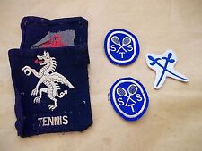 Collection of 5 Tennis Emblems /Badges