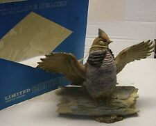 LARGE Ruffed Grouse Decanter by Ski Country 1980 w/original box-books $69.00