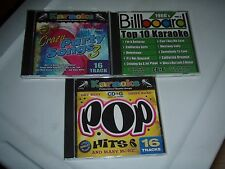 KARAOKE cd lot of 3 1960's billboard top 10,crazy party songs3, Pop hits 6