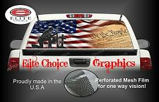 Patriotic American Flag Rear Window Graphic Decal Sticker Truck Car SUV