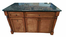 "52"" Custom stain Kitchen Island with ""Tan Brown"" granite Counter Top. Custom OK"
