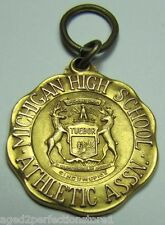Orig 1931 1st Pl Michigan High School Assn State Swimming Meet Medal Josten 1/10