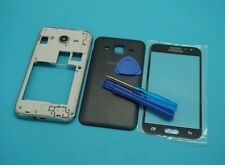 For Samsung Galaxy J2 SM-J200 Black Housing Battery Cover+Screen Lens Glass