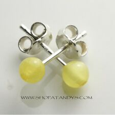 GENUINE LEMON BALTIC AMBER 925 STERLING SILVER EARRINGS