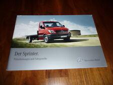 Mercedes Benz Sprinter PRITSCHE Prospekt 09/2010