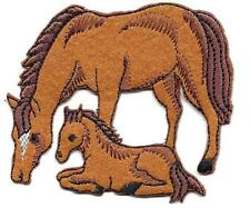 HORSES-MOTHER & BABY/Iron On Embroidered Applique/Western/Southwest/Farm