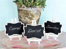 40 NEW Chalkboard Easel Wedding Place Card Holders Favors Lot Q19363