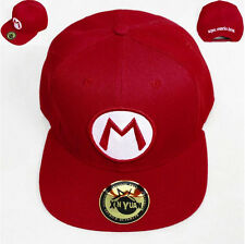 Super Mario Bros Logo Adjustable Baseball Cap Hip Hop Snapback Hat Fashion Gift