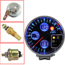 "New Car 5"" DIGITAL 4 IN 1 TACHOMETER WATER TEMP VOLT OIL PRESS GAUGE"