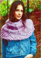 ~ Rowan Pull-Out Knitting Pattern For Lady's Bobble Shoulder Cape ~