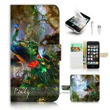 iPhone 5C Flip Wallet Case Cover! P0949 Peacock Painting