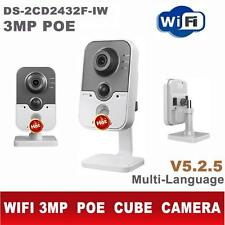 Hikvision Hot 3MP WIFI DS-2CD2432F-IW POE Built-in Microphone IR IP Cube Camera