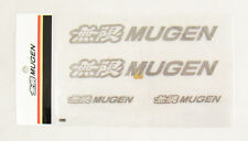 6 Inch 4 pcs JDM Mugen Power Decal Stickers Gunmetal Color Made in Japan Honda