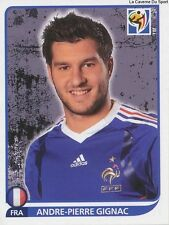 N°105 ANDRE-PIERRE GIGNAC # FRANCE STICKER PANINI WORLD CUP SOUTH AFRICA 2010