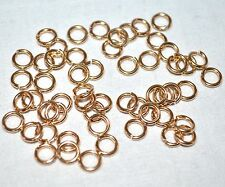 3.2mm 22G Open Round Jump Rings 14K Gold-Filled Jewlery Design Findings 50pk