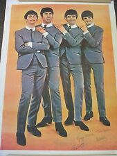 "Beatles Vintage 1970's HUGE 42"" Wide x 58"" High Store Display Wall Poster !!"