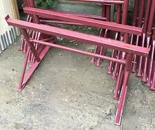 BUILDERS STEEL ADJUSTABLE TRESTLES BANDSTANDS NEW SIZE 1 MAX 0.70mtr ESSEX