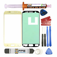 GOLD Front Glass Lens Screen Replacement for Samsung Galaxy S7 G930 w/ UV LOCA
