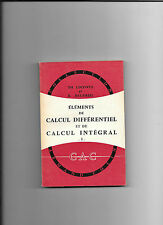 ELEMENTS DE CALCUL DIFFERENCIEL ET DE CALCUL INTEGRAL T1